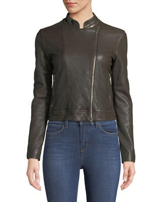 Image 3 of 3: Devon Leather Moto Jacket
