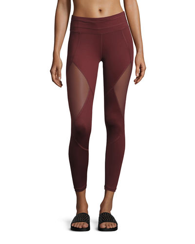 Varley Walnut Mesh-Panel Sport Tights