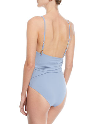 Image 2 of 2: Timeless Basics Wrap One-Piece Swimsuit