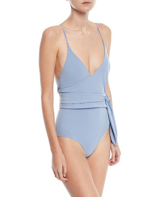 Image 1 of 2: Timeless Basics Wrap One-Piece Swimsuit