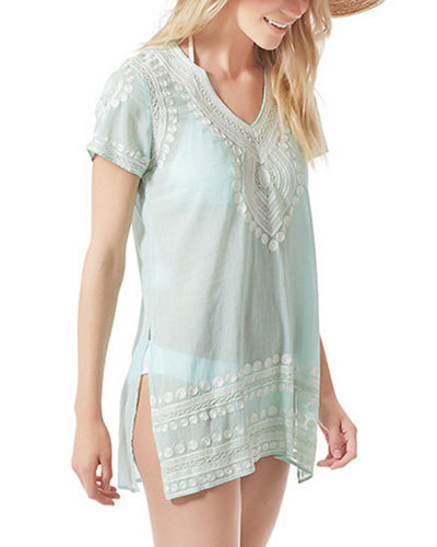 Flora Bella Evian Embroidered Short Sleeve Coverup Tunic