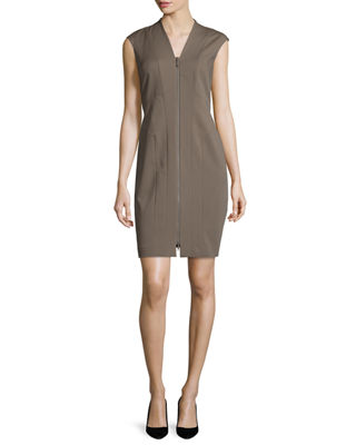 Lafayette 148 New York Christy Zip-Front Sheath Dress