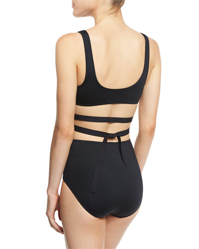 Cutout One-Piece Swimsuit w/Center Ring