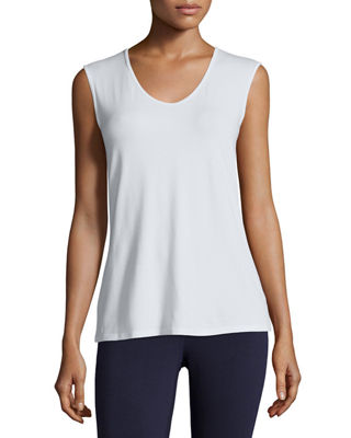 Eileen Fisher Sleeveless Scoop-Neck Tee, Plus Size