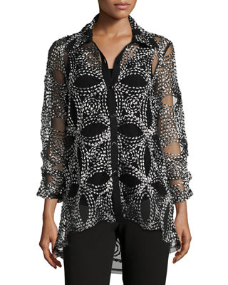Seeds of Gold Sheer Blouse