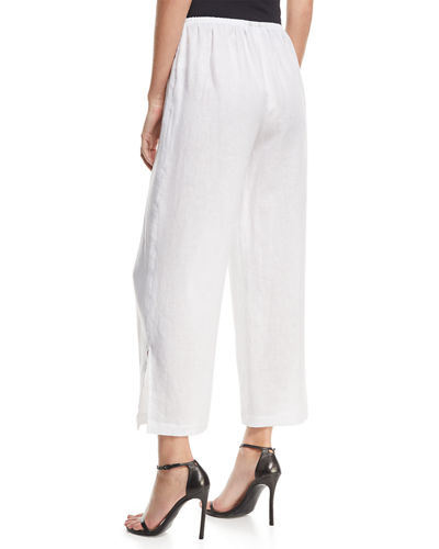 Tissue Linen Wide-Leg Pants