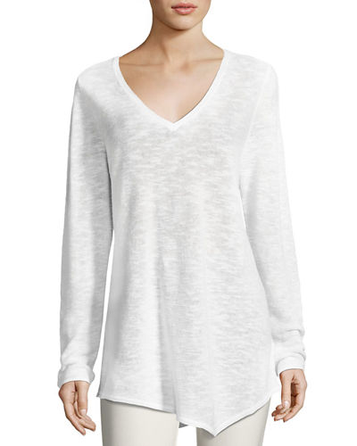 Eileen Fisher Petite Long-Sleeve Organic Links Tunic