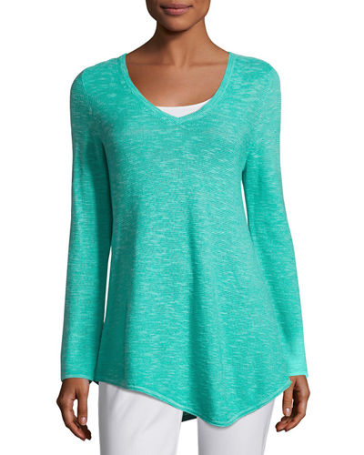 Petite Long-Sleeve Organic Links Tunic