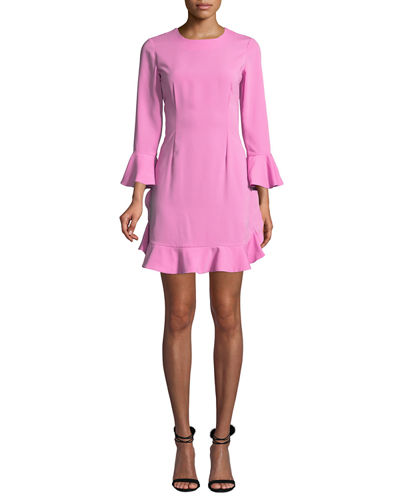Bell-Sleeve Jersey Cocktail Dress