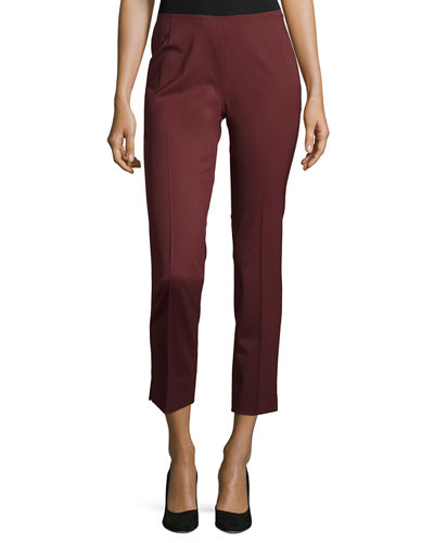 Lafayette 148 New York Stanton Straight-Leg Ankle Pants