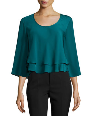 Penelope Tiered Crepe Top