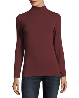 Soft Touch Mock Turtleneck Top
