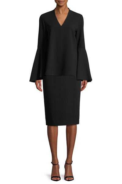 Finesse Crepe Slim Skirt