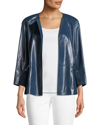 Lafayette 148 New York Kieran Lacquered Lamb Leather