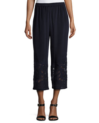 Eliana Wide-Leg Silk Pants
