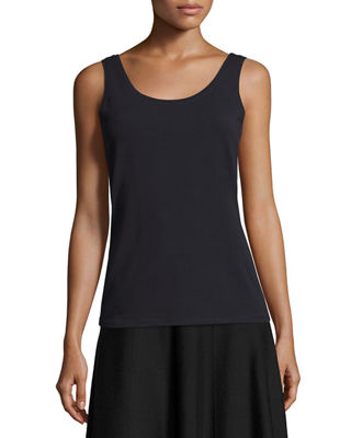 Image 1 of 2: Perfect Jersey Scoop-Neck Tank