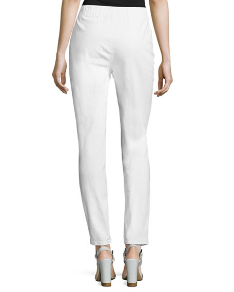 Image 3 of 3: Joan Vass Petite Stretch Denim Slim Jeans