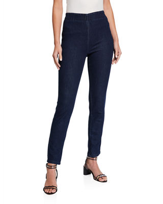 Joan Vass Stretch Denim Slim Jeans and Matching