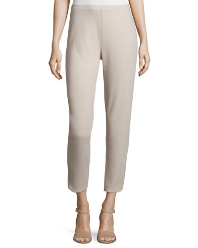 Plus Size Ponte Ankle Pants
