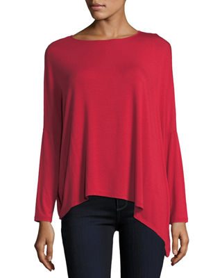 Majestic Paris for Neiman Marcus Long-Sleeve Asymmetric Tee