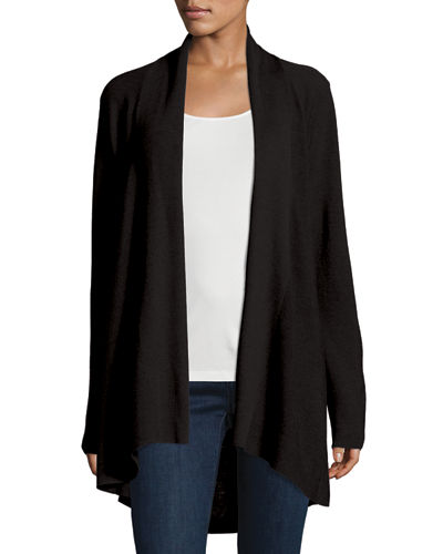 Eileen Fisher Long-Sleeve Merino Stitched Cardigan, Petite
