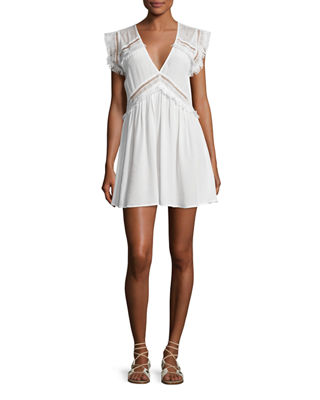 XO Lace-Trim Mini Sundress