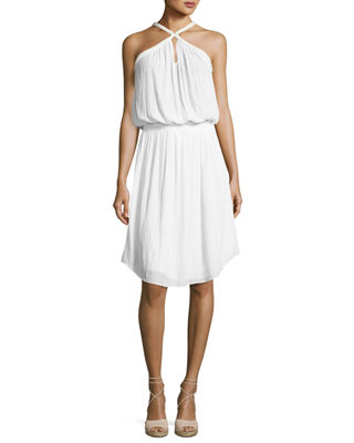 Image 1 of 2: Caroline Sleeveless Blouson Dress