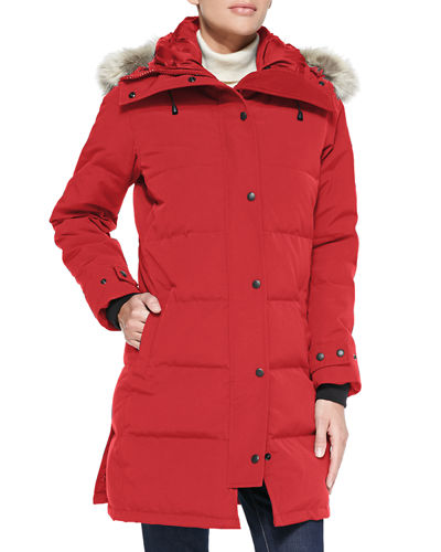 Canada Goose Shelburne Hooded Parka In Red  58860b28d