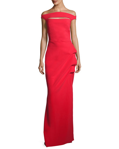 La Petite Robe di Chiara Boni Off-the-Shoulder Jersey Gown