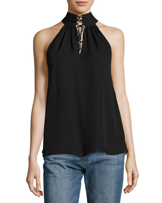 The New Morrison Laced Silk Tank