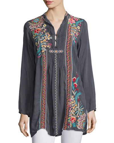 Johnny Was Sheela Embroidered Long Tunic & Nikky