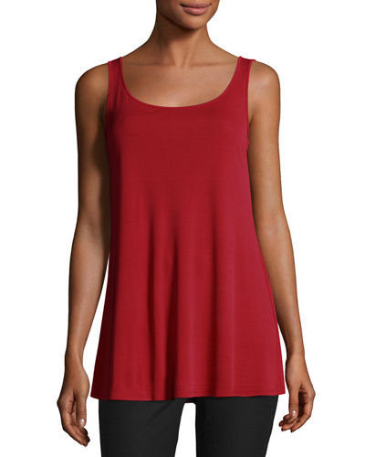 Eileen Fisher Jersey Sleeveless Scoop-Neck Tunic, Plus Size