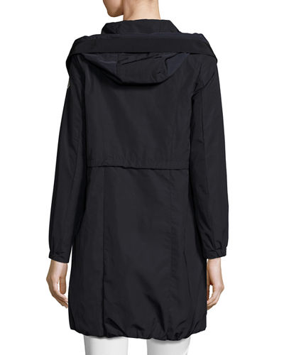 Tuile Long Hooded Drawstring Jacket