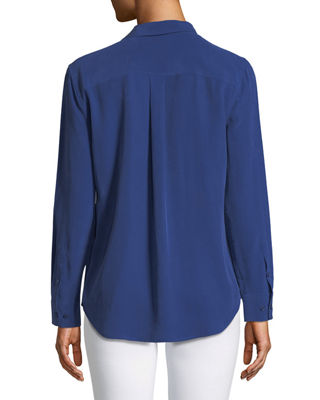 Image 2 of 2: Silk Slim Signature Top