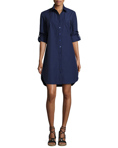Finley Alex Long-Sleeve Shirtdress, Plus Size