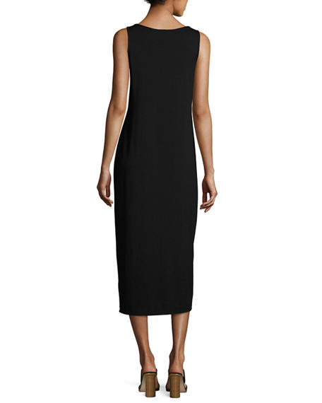 Image 2 of 3: Eileen Fisher Plus Size Jersey Scoop-Neck Midi Dress
