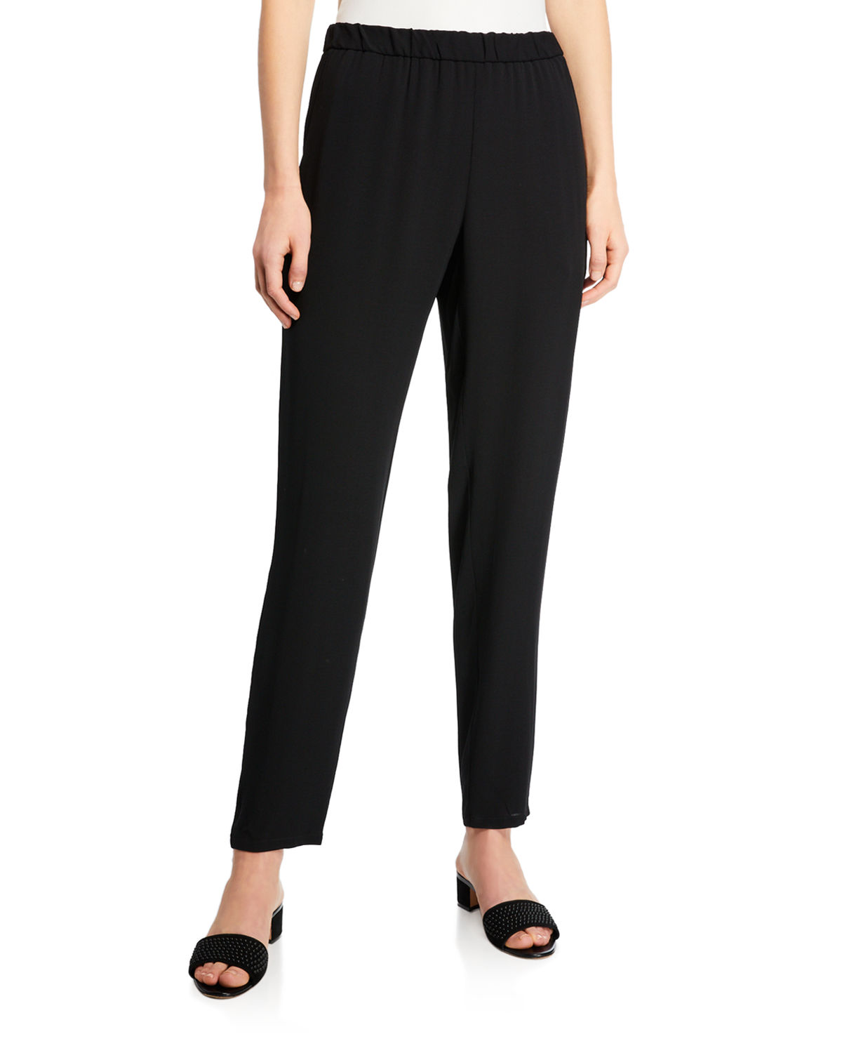 c6be6f45f06c Eileen Fisher Silk Georgette Crepe Slouchy Ankle Pants