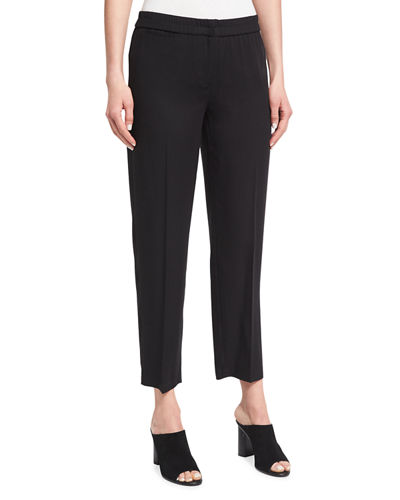 Woven Tencel® Ankle Trousers