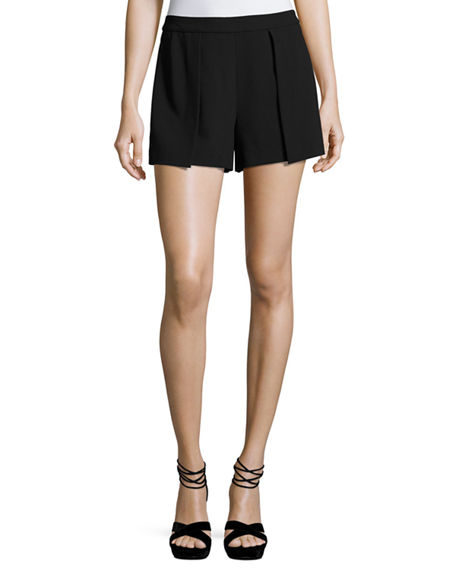 Larissa Open Pleat Front Short in Black. - size 2 (also in 0,10,6) Alice & Olivia