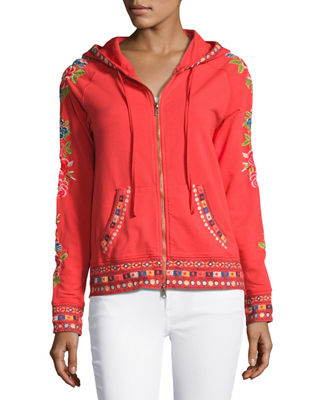 Image 4 of 5: Rina Embroidered Hoodie, Plus Size
