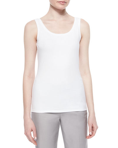 Petite Perfect Jersey Scoop-Neck Tank