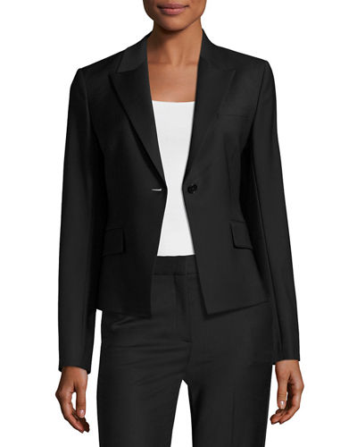 Theory Brince B Continuous Single-Button Blazer and Matching