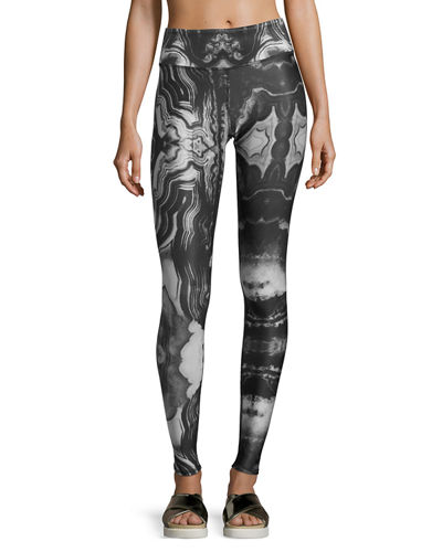 Alo Yoga Tech Lift Airbrush Sports Leggings and