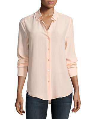 Essential Long-Sleeve Silk Shirt
