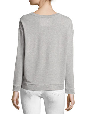 Image 2 of 2: Soft-Touch French Terry Sweatshirt