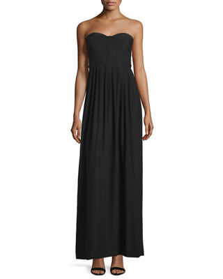 Parker Bayou Strapless Sweetheart-Neck Gown