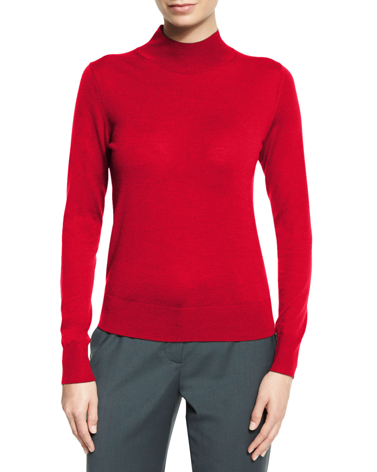 Sallie Refine Mock-Neck Sweater