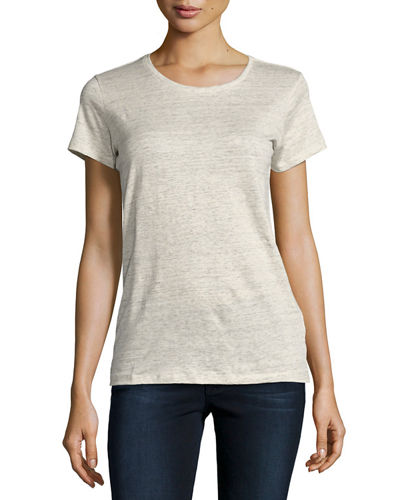 Majestic Paris for Neiman Marcus Stretch-Linen Short-Sleeve