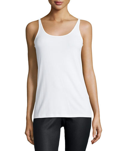 Eileen Fisher Silk Jersey Long Slim Camisole, Plus