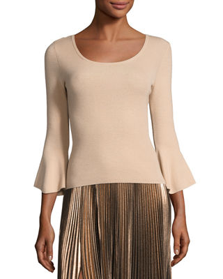 A.L.C. Tadeo Bell-Sleeve Fitted Top